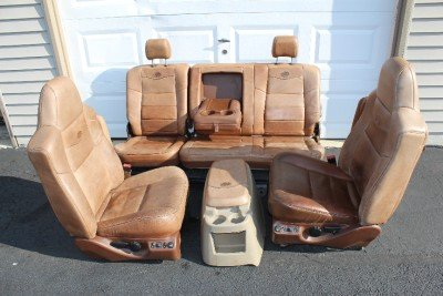 99 2010 Ford F250 F350 King Ranch Leather Seats Buckets Nice Crew Cab 2006