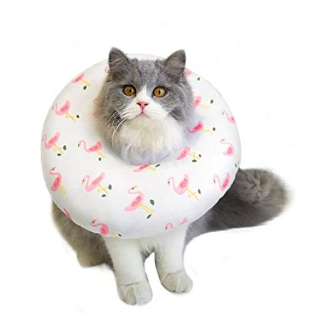 Petseek-Cat-Recovery-Collar-Small-Dog-Surgery-Soft-Cone-Adjustable-E-Collar-for-Dogs-Cats