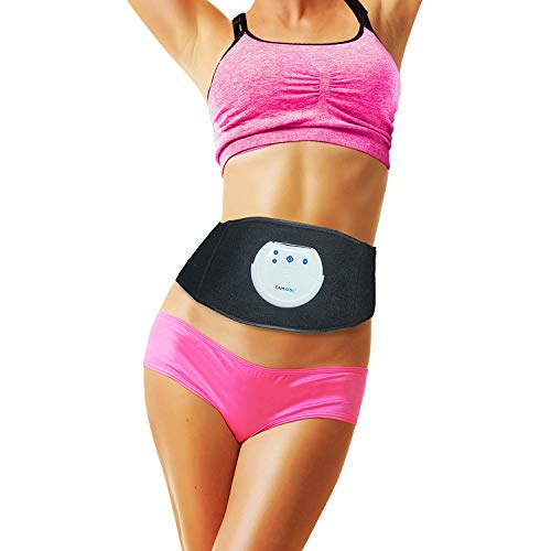 Waist Trimmer Ab Stimulator Belt - FDES107(Newest Gel-free Permanent Use Silicon Electrodes Technology) Ultimate Ab Trainer Workout Belt EMS Unit for Weight Loss,Slimming ,Tone,Strengthen the Muscles