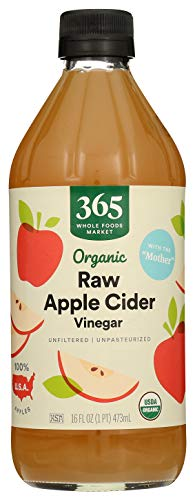365 by Whole Foods Market, Organic Vinegar, Apple Cider - Raw, 16 Fl Oz 1