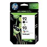 HP 92 Black & 93 Tri-color Ink Cartridges, 2 Cartridges (C9361WN, C9362WN) for HP Photosmart 2575 HP PSC 1510