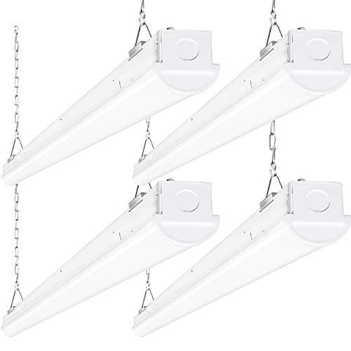Hykolity 8FT LED Shop Light, 110W 14300LM Linkable LED Garage Light, [6-lamp F32T8 Fluorescent Equiv.] 5000K Daylight, 0-10V Dimmable, DLC Complied, Commercial 8 Foot LED Strip Light Fixture -4 Pack