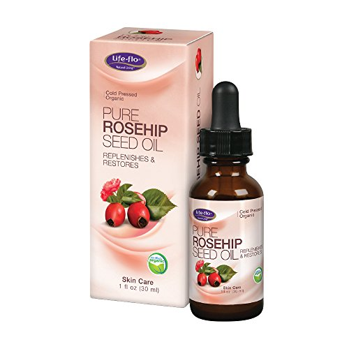 Life-Flo Pure Rosehip Seed Oil | Certified Organic & Cold Pressed | Authentic Rose Hip Oil for Face & Skin Restoration | Dry & Non-Greasy | 1 Ounce