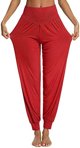PACBREEZE Women's Harem Yoga Lounge Pants Soft Loose Dance Pilates Workout Pants 1