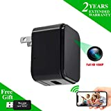 Nanny Camera USB Phone Charger WEMLB, 1080p HD Covert Camera, WiFi Wireless Wall Plug USB Charger [Motion Detection, AC Adapter, Remote App Control] Nanny, Home, Kids, Baby, Pet Monitoring cam
