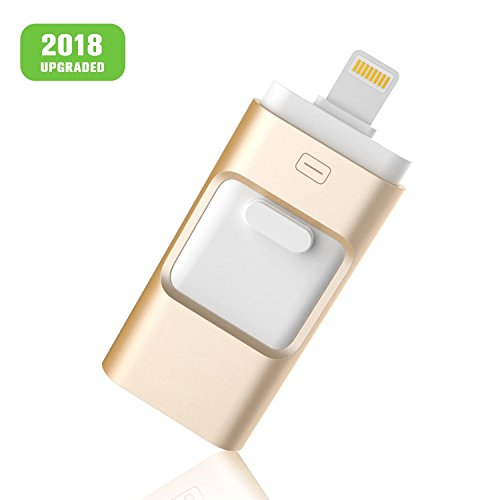 GEEKERS iOS USB Flash Drives iPhone 32GB [3-in-1] Lightning OTG Jump Drive, External Micro USB Memory Storage Pen Drive, Encrypted Flash Memory Stick iPhone, iPad, iPod, Mac, Android PC