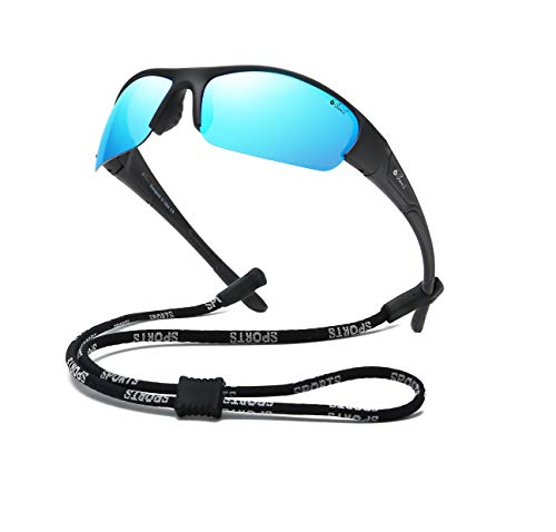 Bevi Sports Sunglasses Polarized UV400 Mirror...