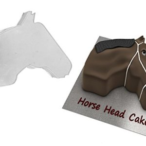 HORSE FACE SHAPED BIRTHDAY NOVELTY BAKING CAKE TIN PAN 413D8G1ZAEL