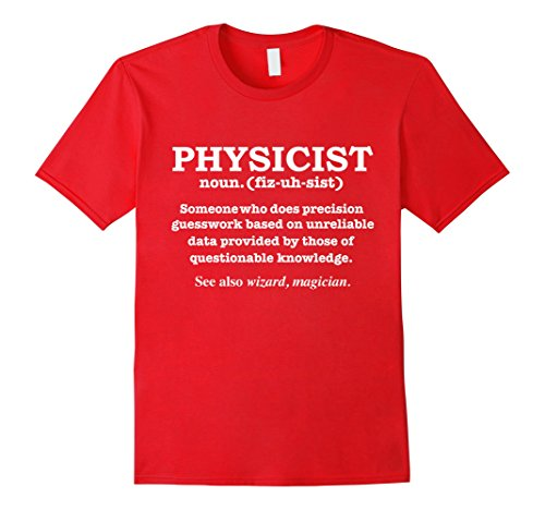 Mens Physicist Definition Wizard Scientist Physics T-shirt Large Red