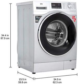IFB 8kg Fully-Automatic Front Loading Washing Machine (Senator WXS, Silver, Inbuilt Heater, Aqua Energie water softener)