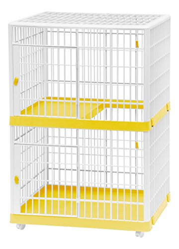 IRIS 2-Tier Cat Cage, Yellow