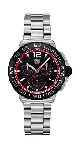 413GDfuugYL Quartz movement Black dial Stainless steel bracelet