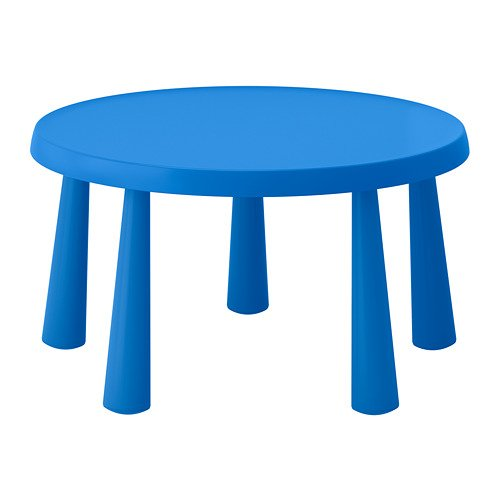 IKEA Mammut Children's Table Indoor Outdoor Blue 903.651.80 Size 33 1/2