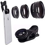 3in1 Clip Lens Kit for Smartphones, Fisheye+Wide Angle+Macro Clip On Camera Lens Set for RazerPhone