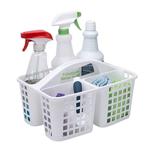 Bath-Bliss-Plastic-Portable-Storage-Utility-Caddy-Tote-Good-for-Shower-Cleaning-Products-and-Organizing-Assorted-Colors