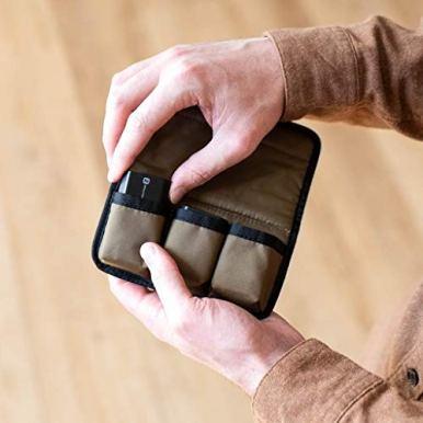 NOMATIC-McKinnon-Battery-Case-DSLR-Camera-Battery-BagCaseHolder-with-Magnetic-Closure-for-3-Batteries