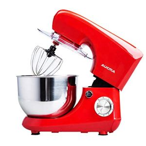 QIHANG-UK Electric Stand Mixer 800W for Baking Cake Mixer Kitchen Food Mixer with 5.5L Bowl Beater Whisk Dough Hook Splash Guard (Red) 413L82zD6eL