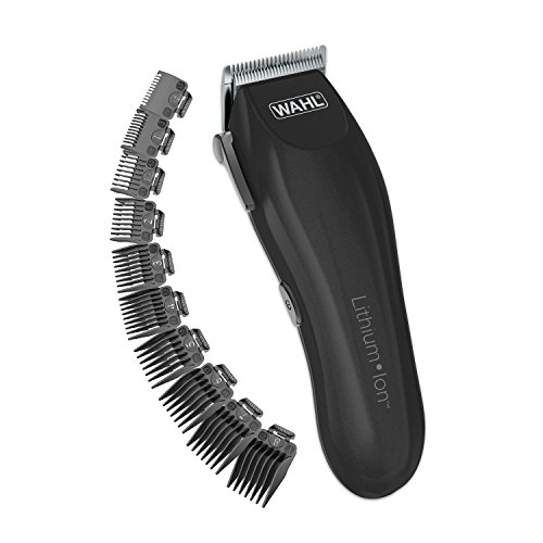 Wahl Clipper Lithium-ion Cordless Haircutting Kit 79608 Cordless Rechargeable Grooming and Trimming Kit, 12 Guide Combs