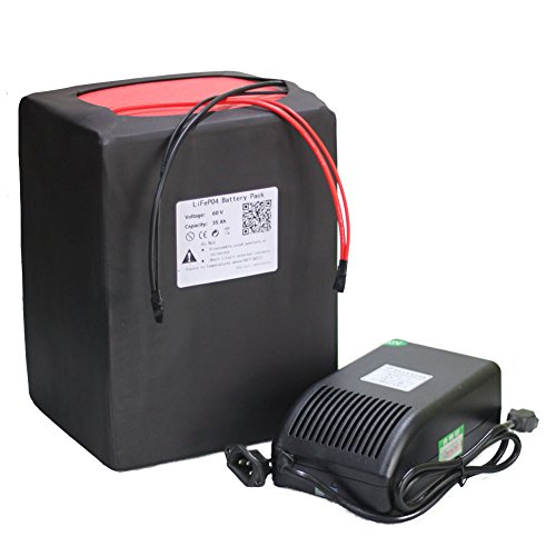 60V 35Ah Battery Pack LiFePO4 Lithium Li-ion for Sporting Scooter Electric Bike Ebike Bicycle with 5A Charger BMS