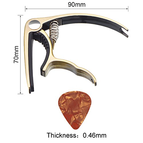 1-Pack-Golden-Guitar-Capo-Change-Trigger-Capo-Key-Clamp-with-10-Pieces-046-mm-Colorful-Celluloid-Guitar-Picks-Plectrums-for-Guitar-Replacement