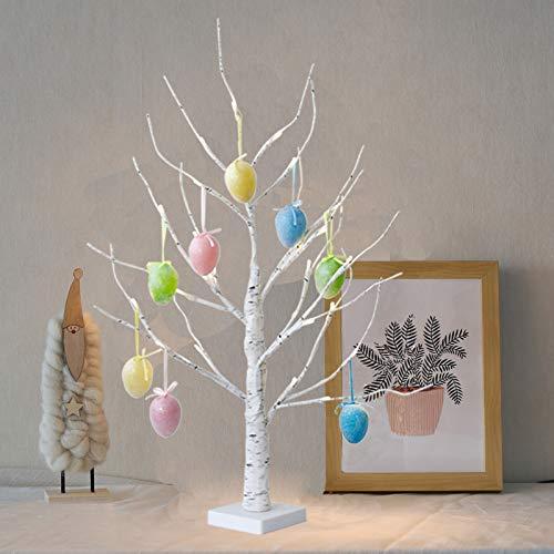 Eambrite 2ft Easter Egg Tree Light Led Money Tree Light Jewelry Holder Birch Centerpiece Decor For Home Party Wedding Wedding