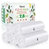 2.6 Gallon 220 Counts Strong Trash Bags Garbage Bags by Teivio, Bin Liners, for home office kitchen, Clear