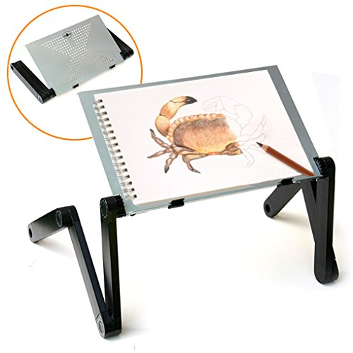 QuickLIFT Portable Art Easel Adjustable Stand for Drawing & Painting on Tabletop / Bed / Couch / Floor. Use with Sketch Book , Canvas & other Media
