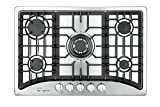 Empava 30' 5 Italy Sabaf Burners Gas Stove Cooktop Stainless Steel EMPV-30GC5B70C