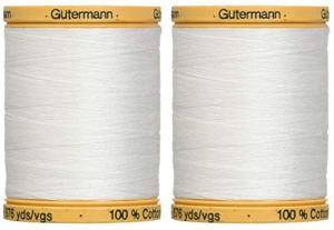 2-Pack-Gutermann-Natural-Cotton-Thread-Solids-876-Yards-Each-White-800C-5709
