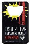 Superman Pop Art Stainless Steel Super Hero Credit Card Bottle Opener
