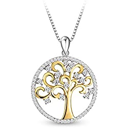 Sterling Silver Necklace Tree Of Life Pendant For Women