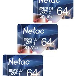 413eIfJBZJL - Netac 64GB Micro SD Memory Card 3 PCs, MicroSDHC Card UHS-I, 100/30MB/s(R/W), 667X, C10, U3, A1, V30, 4K, TF Card for Camera, Smartphone, Security System, Drone, Dash Cam, Gopro, Tablet