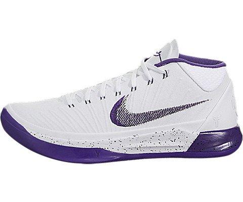 Nike Mens Kobe AD Padded Insole Sport Basketball Shoes White 10 Medium (D)