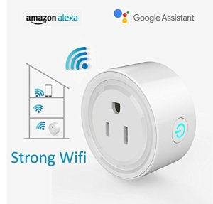 Wi-Fi Alexa Mini Smart Plug, Alexa Outlet, Smart Socket Works with Alexa and Google Assistant