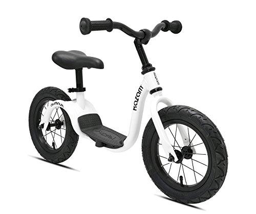 KaZAM Alloy No Pedal Balance Bike, Pearl White, 12'