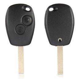 AUDEW-2-Bouton-Coque-Tlcommande-Plip-Cl-Fob-Lame-Uncut-Pour-Renault-Modus-Clio-3-Twingo