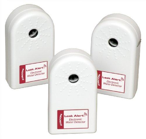 Zircon 63931 Leak Alert Electronic Water Detector Batteries Included, 3-Pack