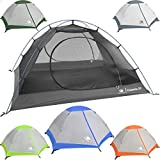 Hyke & Byke 2 Person Backpacking Tent with Footprint - Lightweight Yosemite Two Man 3 Season Ultralight, Waterproof, Ultra Compact 2p Freestanding Backpack Tents for Camping and Hiking (Blue)