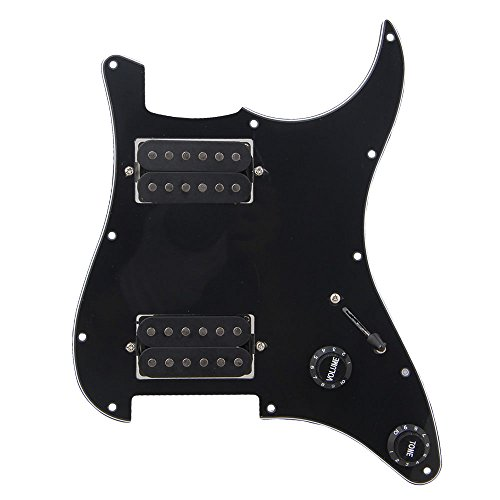 BQLZR Black Loaded HH Pickguard Dual Humbuckers for Electric guitar