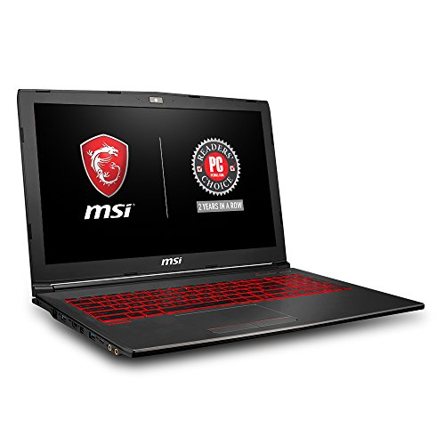 "MSI GV62 8RD-034 15.6"" Thin and Light Gaming Laptop, GeForce GTX 1050Ti 4G, Intel i7-8750H (6 Cores), 8GB DDR4, 128GB SSD + 1TB, Windows 10 64 bit, Steelseries Red Backlit Keys"