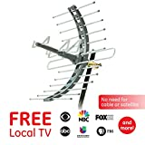 GE Pro Attic Mount TV Antenna, Outdoor, Attic, Long Range Antenna, Digital, HDTV Antenna, 4K 1080P VHF UHF, Compact Design, 29884