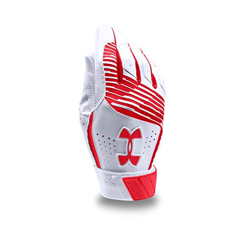 Under Armour Boy's Clean Up Baseball Batting Gloves, Red (600)/Red, Youth Small