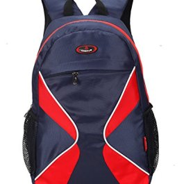 Cosmus 3D Casual Backpack 26L Navy Blue Polyester Bag