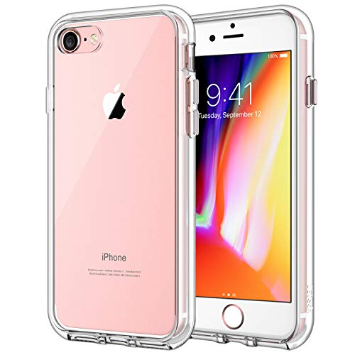 JETech Case for Apple iPhone 8 and iPhone 7, 4.7-Inch, Shock-Absorption Bumper Cover, Anti-Scratch Clear Back (HD Clear)
