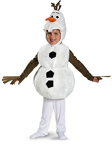Disguise Baby's Disney Frozen Olaf Deluxe Toddler Costume,White,Toddler M (3T-4T)