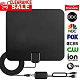 Upgraded 2018 Version TV Antenna, HD Digital Antenna Kit 80 Miles Long Range with Detachable Amplifier Signal Booster for HDTV, 19Ft Thicker Coaxial USB Cable-Support All Smart TV, 1080P 4K Channels