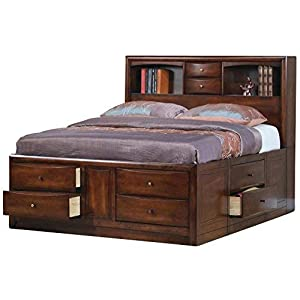 Hillary Queen Bookcase Bed