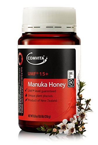 Comvita Certified UMF 15+ (Super Premium) Manuka Honey I New Zealand's #1 Manuka Brand I Non-GMO, Halal, and Kosher Certified I 250g (8.8oz)