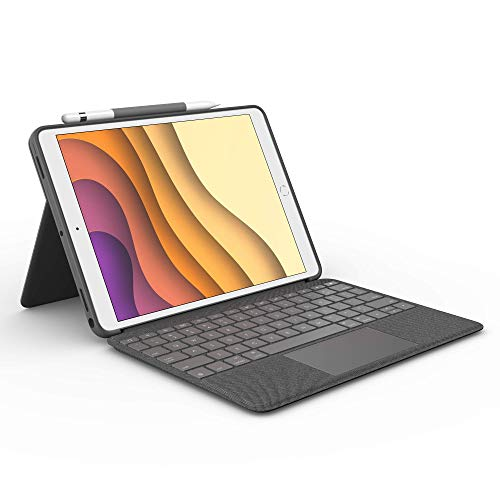 Logitech-Combo-Touch-for-iPad-Air-3rd-Generation-and-iPad-Pro-105-inch-Keyboard-case-with-trackpad-Wireless-Keyboard-and-Smart-Connector-Technology-Graphite