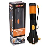 LifeLight LED Emergency Flashlight Car Window Breaker and Seatbelt Cutter - Hand Crank Charger Water Resistant Multi-Purpose Hand Crank Flashlight, Emergency Car Escape Toolkit, Flashlights